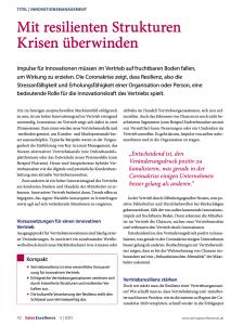 Müllner Klumpp - Sales Excellence 03-2021 - Vertriebsresilienz